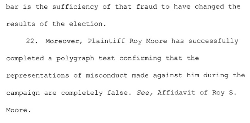 Paragraph 2 of Roy Moore's complaint